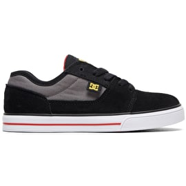 DC Tonik Kids Skate Shoes - Black/Grey/Red
