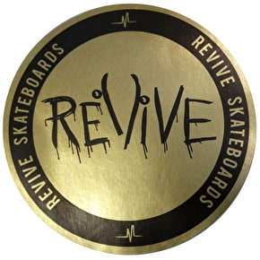 ReVive Skateboard Sticker - Gold Foil