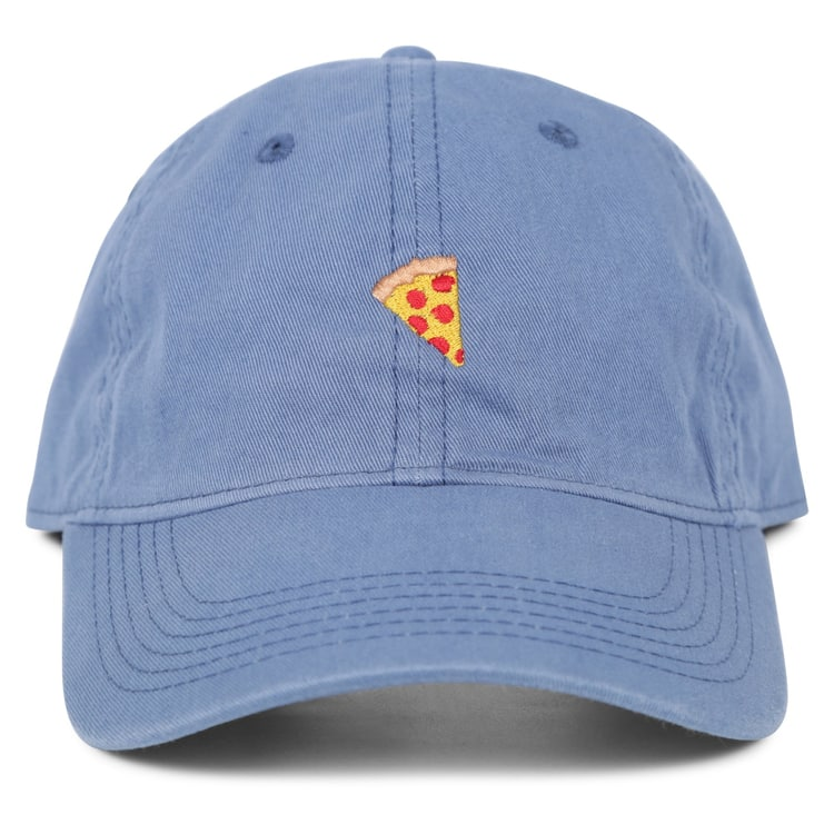 Pizza Pigment Dyed Emoji Cap - Bay Blue