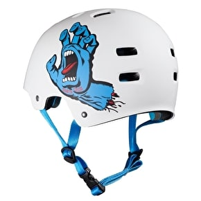 Bullet / Santa Cruz Colab Screaming Hand Graphic Helmet - White