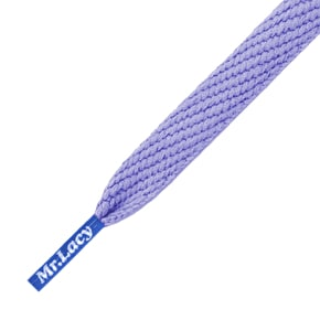 Mr Lacy Shoelaces - Flatties Lila/Royal Blue Tip