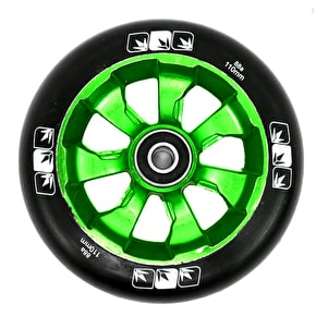 Blunt 7 Spoke 110mm Metal Core Wheel - Green/Black