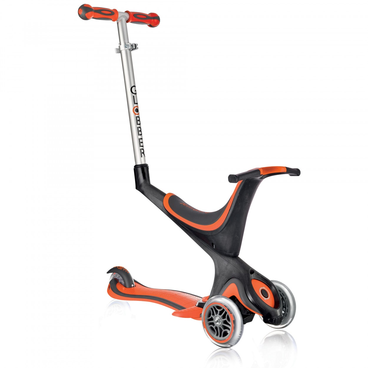 globber evo 5 in 1 complete scooter new red globber. Black Bedroom Furniture Sets. Home Design Ideas