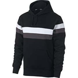 Nike SB Icon Stripes Hoodie - Black/White/Thunder Grey