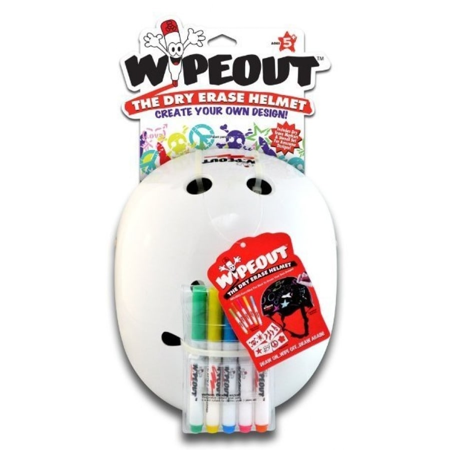 Triple 8 Kids Wipeout Helmet  White