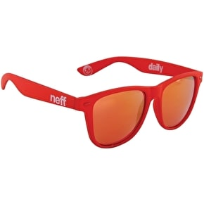 Neff Daily Sunglasses - Soft Touch Red