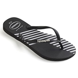 B-Stock Havaianas Slim Block Colour Womens Flip-Flops - Black (Size - UK 3/4) (Repackaged)