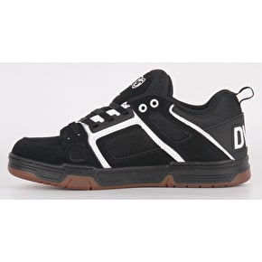 DVS Comanche Skate Shoes - Black/White/Gum Nubuck