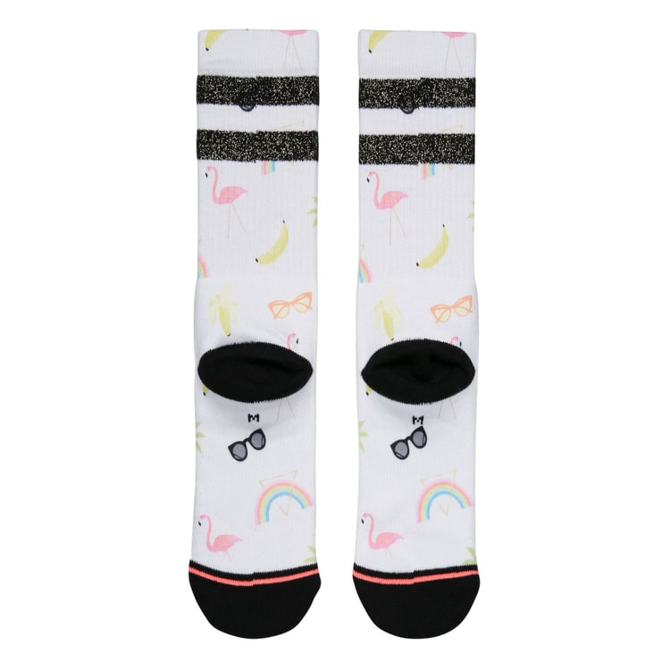 Stance Laine Classic Crew Socks - White