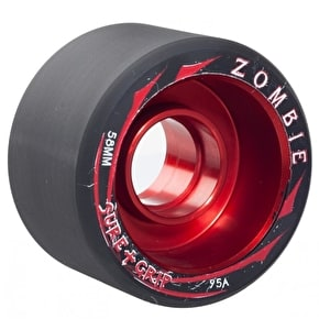Sure-Grip Zombie Low 58mm Quad Derby Wheels 95A (4pk) - Red