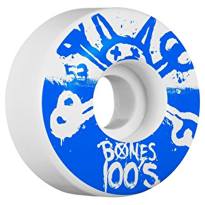Bones OG 100'S #10 V4 Skateboard Wheels - White 52mm (Pack of 4)