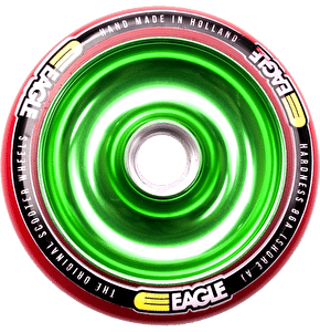 Eagle Green Anodised Full Metal Core Red PU Wheel - 110mm
