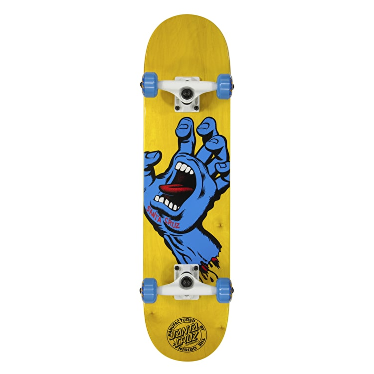 Santa Cruz Screaming Hand Complete Mini Skateboard - Yellow 7.5""