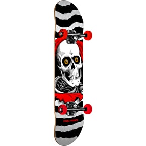 Powell Peralta One Off Ripper Complete Skateboard - White/Red 8