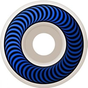 Spitfire White Classic Skateboard Wheels - Blue 56mm (Pack of 4)