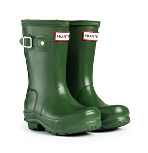 Hunter Kids Original Wellington Boots Green UK Size 1 (B-Stock)
