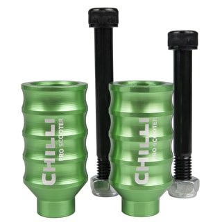 Chilli Pro Wave Scooter Pegs - Green