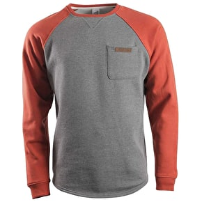 Santa Cruz Hook Crewneck Sweater - Chilli / Dark Heather