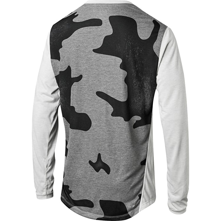 Fox Indicator Mash Camo Long Sleeve Jersey - Cloud Grey