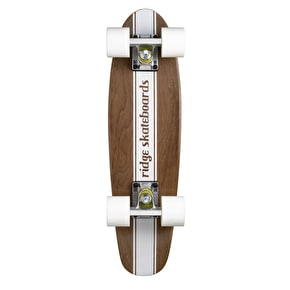 Ridge Mini Cruiser Skateboard - Number Four Dark Dye/White 22