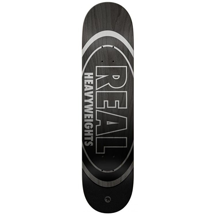 Real Heavyweights Skateboard Deck - Black 8.5""