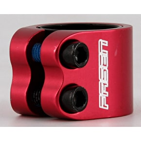 Fasen 2 Bolt Double Scooter Collar Clamp - Red