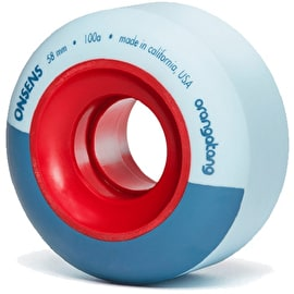 Orangatang Onsen Park 58mm 100A Longboard Wheels - Light Blue