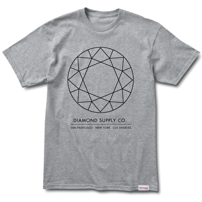 Diamond Off Top T-Shirt - Heather