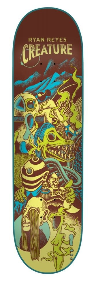 Image of Creature Reyes Eclipse Skateboard Deck - 8""