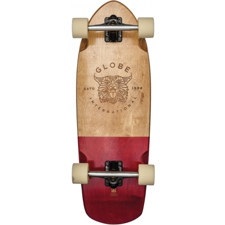 Globe Stubby Cruiser - Half Dip Natural/Red 30""