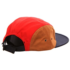 WeSC Block 5 Panel Cap - Tobacco