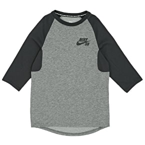 Nike SB Icon 3/4 Sleeve Shirt - Carbon Heather/Anthracite