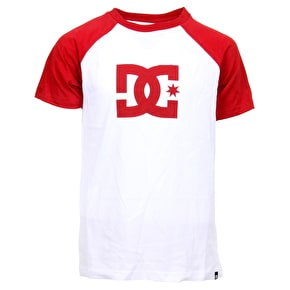DC Star SS Raglan Kids Shirt - Snow White/Chilli Pepper