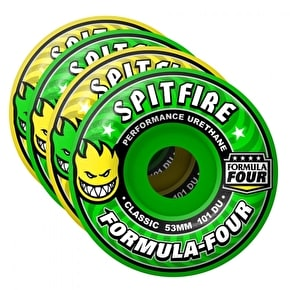 Spitfire Coolade Mash Up Skateboard Wheels - Yellow/Green 53mm