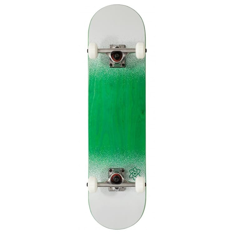 Rocket Skateboards Twin Fade Series Complete Skateboard - Green/White 7.75""