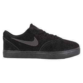 Nike SB Check Suede (PS) Kids Skate Shoes - Black/Black-Anthracite