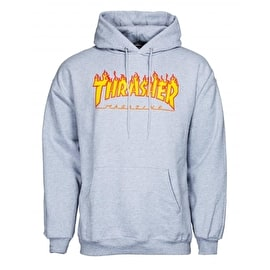 Thrasher Flame Logo Hoodie - Heather