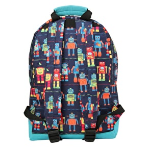 Mi-Pac Mini Robots Backpack - Blue Multi