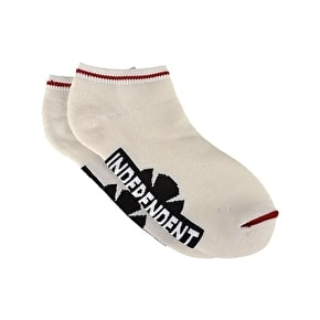 Independent Original Bar Cross Low Socks - White
