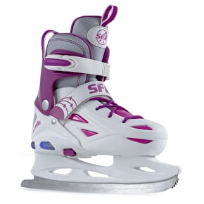 B-Stock SFR Ice Skates - Eclipse Lights White/Pink - Large (UK 3 - UK 6) (lights do not function)