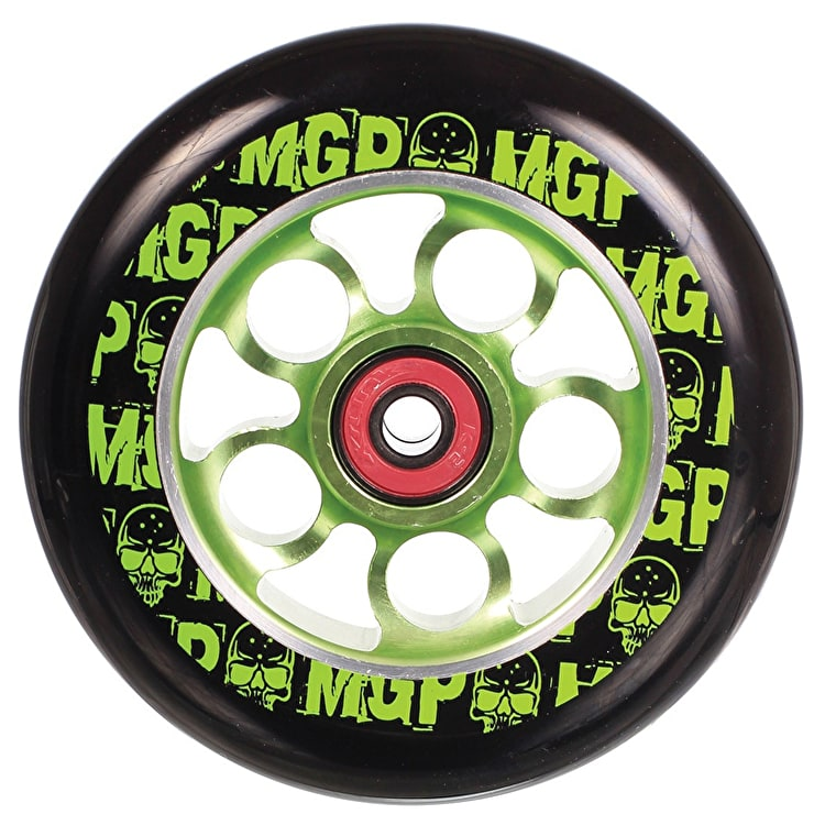 MGP Aero Skull Scooter Wheel - Green 110mm