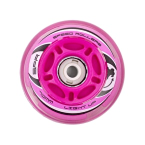 SFR Light Up Inline Skate Wheels - Pink