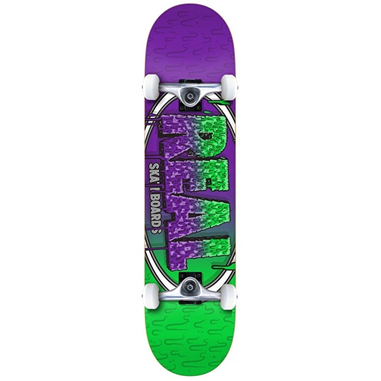 Real Slime Fades Complete Skateboard - 8""