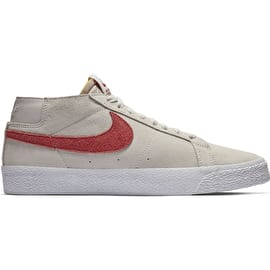 Nike SB Zoom Blazer Chukka Skate Shoes - Vast Grey/Team Crimson