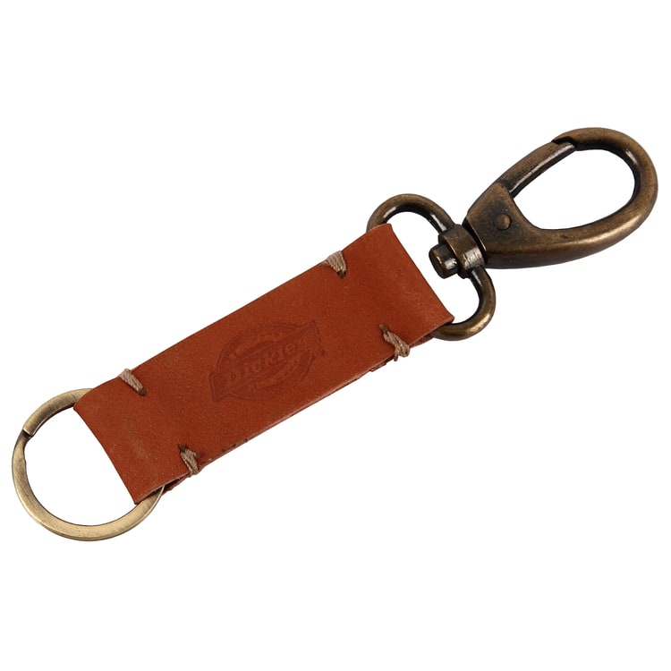 Dickies Rushville Leather Keychain - Chestnut Brown