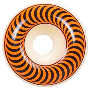 Spitfire Classic Skateboard Wheels - White/Orange 53mm (Pack of 4)