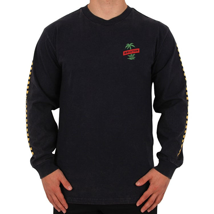 Brixton Tosh Long Sleeve T Shirt - Navy