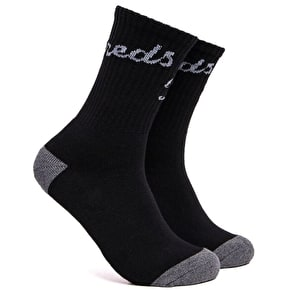 The Hundreds Slant Crew Socks - Black