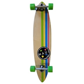 Maui and Sons Cookie Stripe Pintail Complete Longboard - Natural 39
