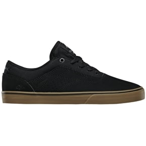 Emerica The Herman G6 Vulc Skate Shoes - Black/Black/Gum